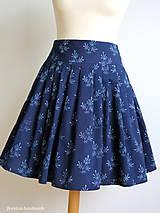 Sukne - set z modrotlače: skladaná sukňa a motýlik - 6702976_