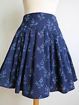 Sukne - set z modrotlače: skladaná sukňa a motýlik - 6702977_