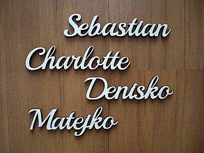 Polotovary - Písmenká - vyrezávané meno - 6704867_