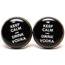 Náušnice - Keep Calm And Drink Vodka - 6701629_