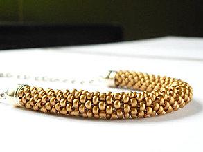 Náhrdelníky - SNAKE Gold Satine - 6703686_