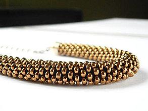 Náhrdelníky - SNAKE Light Bronze - 6703727_