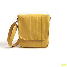Veľké tašky - MESSENGER MEDIUM - Uni sešívaná (mustard) - 6705106_