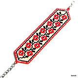 Náramky - Náramok Folklórny - Ruža - 6703326_