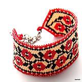 Náramky - Náramok Folklórny - Ruža - 6703330_