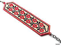 Náramky - Náramok Folklórny - Ruža - 6703331_