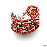 Náramky - Náramok Folklórny - Ruža - 6703339_
