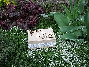 Krabičky - Svadobná krabička - 6702300_