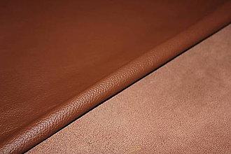 Suroviny - Exkluzívna koža - hnedá 20x30 cm alebo na želanie - 6703323_