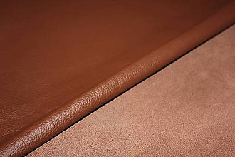 Suroviny - Exkluzívna koža - hnedá - 6703323_