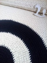 Úžitkový textil - Okrúhly bavlnený koberec - dvojfarebný - 6701576_