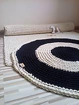 Úžitkový textil - Okrúhly bavlnený koberec - dvojfarebný - 6701577_