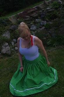 Sukne - zelená sukňa - 6702722_