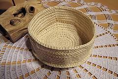 Košíky - Háčkovaný košík z bavlny - 6705019_