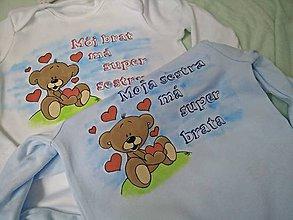 Detské oblečenie - Body pre súrodencov - 6708861_