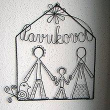Tabuľky - svadobný darček- trojčlenná rodina - 6708245_