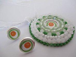 Sady šperkov - súprava bielo zelená - 6706321_