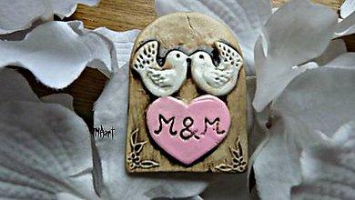 Darčeky pre svadobčanov - Magnetka - darček na svadbu - 6708493_