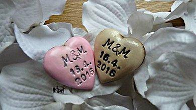 Darčeky pre svadobčanov - Magnetka - darček na svadbu - 6708514_