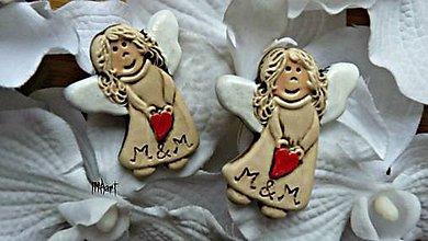 Darčeky pre svadobčanov - Magnetka - darček na svadbu - 6708518_