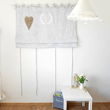 Úžitkový textil - ZÁVES BELLE JARDINIERE skladací,šedý - 6708269_