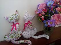 Dekorácie - ružové mačičky - 6708418_