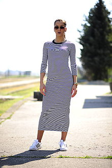 Šaty - Long Dress Strips - 6705846_