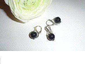 Sady šperkov - ónyx facetovaný náušnice prívesok - 6706249_