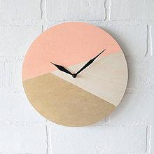 Hodiny - Nástenné hodiny Broskyňová - 6707482_