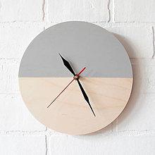 Hodiny - Nástenné hodiny Sivý minimalizmus - 6707544_