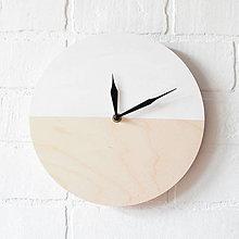 Hodiny - Nástenné hodiny Biely minimalizmus - 6707564_