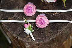Pierka - Kvetinové pierko pre ženícha