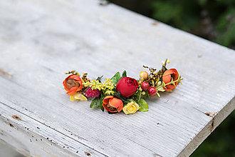 Ozdoby do vlasov - výpredaj z 20 eur Kvetinový štvrťvenček \