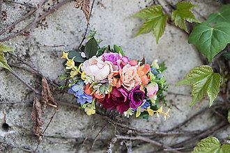 Ozdoby do vlasov - Kvetinový bohato zdobený hrebienok