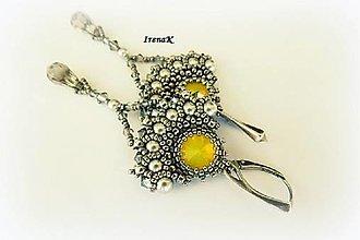 Náušnice - Yellow opal - 6707654_