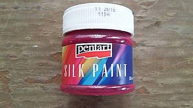 Farby-laky - Farba na hodváb 50 ml - ružová - 6708218_