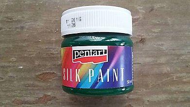 Farby-laky - Farba na hodváb 50 ml - trávová zelená - 6708287_