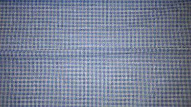 Textil - Bielo-modrá kocka š. 140cm - 6706948_