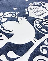 Tričká - Dámske tričko modré melírové VIERA, NÁDEJ, LÁSKA - 6706820_