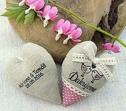 Darčeky pre svadobčanov - Láska natural ...sada pre A. a T. - 6710401_