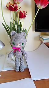 Hračky - háčkovaná mačička - 6710583_