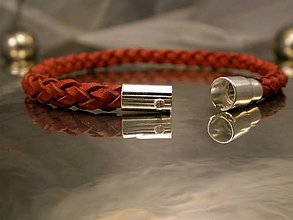 Náramky - Bionet red - 4mm - 6711510_