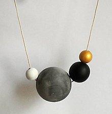 """Náhrdelníky - náhrdelník """"minimal 7"""" - drevo maľované akrylom - 6711576_"""