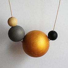 """Náhrdelníky - náhrdelník """"minimal 8"""" - drevo maľované akrylom - 6711595_"""