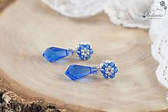Náušnice - Facile Drop Sapphire - 6709899_