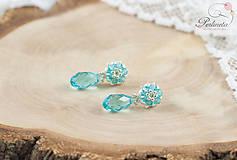 Náušnice - Facile Drop Light Turquoise - 6709917_
