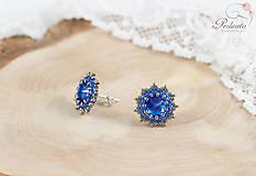 Náušnice - Mini Sapphire - 6709927_