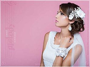 Náušnice - Šťastná nevesta s perlami - náušnice - 6711253_