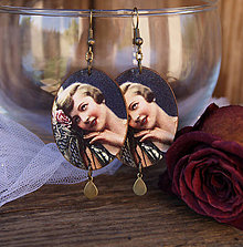 Náušnice - Na ružiach ustlané - 6711292_