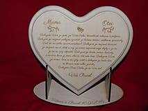 Darčeky pre svadobčanov - Poďakovanie rodičom - lipové srdiečko gravirovane  2 - 6710363_